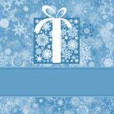 Het malplaatje van de kerstkaart. EPS 8 Stock Foto's