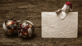 Het malplaatje van de Kerstmisgroet Royalty-vrije Stock Fotografie