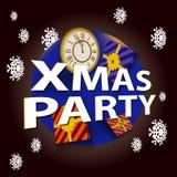 Het malplaatje van de Kerstmispartij stock afbeeldingen