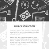 Het malplaatje van de muziekproductie Royalty-vrije Stock Fotografie