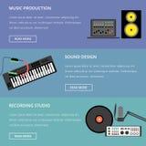 Het malplaatje van de muziekproductie Stock Foto