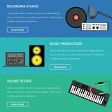 Het malplaatje van de muziekproductie Royalty-vrije Stock Foto's