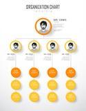 Het malplaatje van de organisatiegrafiek met kleurrijke cirkels Stock Fotografie