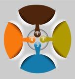 Het malplaatje van de presentatie/van de optie met lege tekstvakjes Stock Fotografie