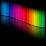 Het malplaatje van de regenboog Royalty-vrije Stock Afbeelding