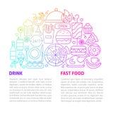 Het Malplaatje van de snel Voedsellijn royalty-vrije stock afbeeldingen