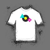 Het malplaatje van de t-shirt Stock Fotografie
