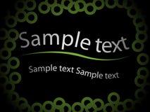Het malplaatje van de tekst Stock Foto