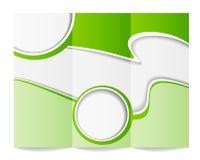 Het malplaatje van de Trifoldbrochure Stock Afbeelding