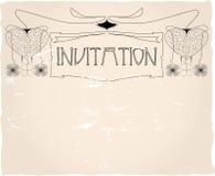 Het malplaatje van de uitnodiging, vector illustratie
