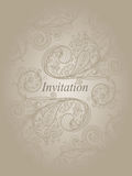Het malplaatje van de uitnodiging Stock Foto