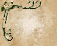 Het Malplaatje van de Uitnodiging van het huwelijk Stock Afbeeldingen