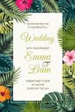 Het malplaatje van de de uitnodigingskaart van de huwelijksgebeurtenis stock illustratie