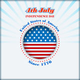 Het malplaatje van de vakantielay-out met four Juli, Amerikaanse Onafhankelijkheidsdag Royalty-vrije Stock Foto's