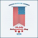 Het malplaatje van de vakantielay-out met sterren op nationale vlag voor four Juli, Amerikaanse Onafhankelijkheidsdag Royalty-vrije Stock Afbeeldingen