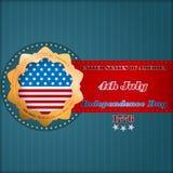 Het malplaatje van de vakantielay-out met sterren op nationale vlag voor four Juli, Amerikaanse Onafhankelijkheidsdag Stock Afbeelding