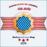 Het malplaatje van de vakantielay-out met sterren op nationale vlag voor four Juli, Amerikaanse Onafhankelijkheidsdag Stock Afbeeldingen