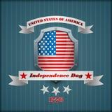 Het malplaatje van de vakantielay-out met sterren op nationale vlagkleuren voor four Juli, Amerikaanse Onafhankelijkheidsdag Royalty-vrije Stock Foto