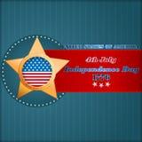 Het malplaatje van de vakantielay-out met sterren op nationale vlagkleuren voor four Juli, Amerikaanse Onafhankelijkheidsdag Stock Foto
