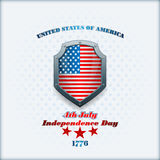 Het malplaatje van de vakantielay-out met sterren op nationale vlagkleuren voor four Juli, Amerikaanse Onafhankelijkheidsdag Royalty-vrije Stock Afbeeldingen