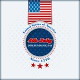 Het malplaatje van de vakantielay-out voor four Juli, Amerikaanse Onafhankelijkheidsdag Royalty-vrije Stock Foto's