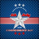 Het malplaatje van de vakantielay-out voor four Juli, Amerikaanse Onafhankelijkheidsdag Stock Foto's