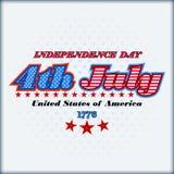 Het malplaatje van de vakantielay-out voor four Juli, Amerikaanse Onafhankelijkheidsdag Royalty-vrije Stock Afbeeldingen