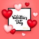 Het Malplaatje van de de Verkoopprentbriefkaar van de valentijnskaartendag Royalty-vrije Stock Afbeeldingen