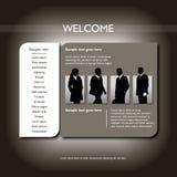 Het Malplaatje van de website Stock Foto