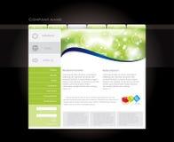 Het malplaatje van de website Royalty-vrije Stock Afbeeldingen
