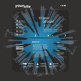 Het Malplaatje van de website Stock Afbeeldingen