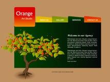 Het Malplaatje van de website Stock Foto's