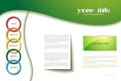 Het malplaatje van de website met cirkels Royalty-vrije Stock Foto