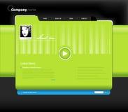 Het malplaatje van de website met foto. royalty-vrije illustratie