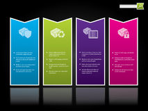Het malplaatje van de website met kleurenetiketten Stock Afbeeldingen