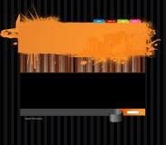 Het malplaatje van de website met panoramastad. Stock Foto