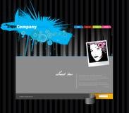 Het malplaatje van de website met strepen. Royalty-vrije Stock Foto
