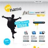 Het malplaatje van de website - modern ontwerp Stock Fotografie