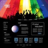 Het Malplaatje van de Website van de partij Royalty-vrije Stock Afbeeldingen