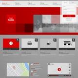 Het malplaatje van de website Vector illustratie Royalty-vrije Stock Foto's