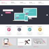 Het malplaatje van de website Vector illustratie Royalty-vrije Stock Afbeeldingen