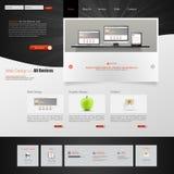 Het malplaatje van de website Vector illustratie Stock Foto