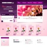 Het malplaatje van de website Vector illustratie Royalty-vrije Stock Afbeelding