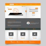 Het malplaatje van de website Vector illustratie Stock Afbeeldingen