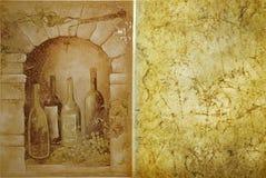 Het malplaatje van de wijngaard Royalty-vrije Stock Afbeeldingen