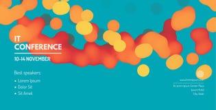 Het malplaatje van de zakelijke gebeurtenisuitnodiging Kan voor online cursussen, hoofdklasse, seminarie, presentatie, webinar of stock illustratie