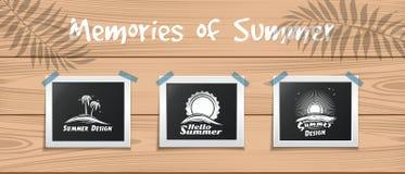 Het malplaatje van het de zomerontwerp voor uw foto's Royalty-vrije Stock Foto's