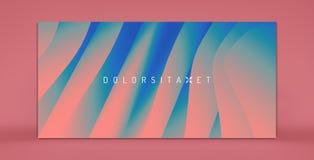 Het malplaatje van het dekkingsontwerp Abstracte achtergrond met dynamisch effect Optische illusie van vervorming van ruimte Mode royalty-vrije illustratie