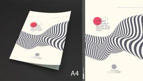 Het malplaatje van het dekkingsontwerp Patroon met optische illusie Abstracte 3d geometrische achtergrond Vector illustratie vector illustratie