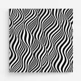 Het malplaatje van het dekkingsontwerp Zwart-wit ontwerp Patroon met optische illusie Abstracte 3d geometrische achtergrond Vecto vector illustratie